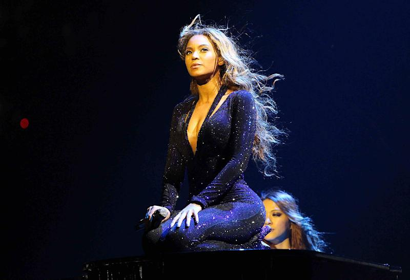 "FILE - This April 15, 2013 file photo originally released by Parkwood Entertainment shows singer Beyonce performing on the opening night of her ""Mrs. Carter Show World Tour 2013"", in Belgrade, Serbia. The tour wraps up on Aug. 5, in the brooklyn Borough of New York. (AP Photo/Parkwood Entertainment, Yosra El-Essawy)"