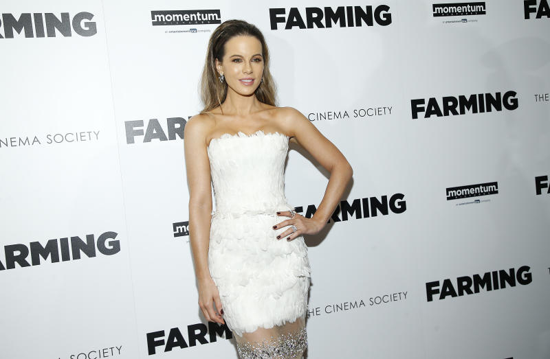 "NEW YORK, NEW YORK - OCTOBER 22: Kate Beckinsale attends ""Farming"" New York Screening at Village East Cinema on October 22, 2019 in New York City. (Photo by John Lamparski/WireImage)"