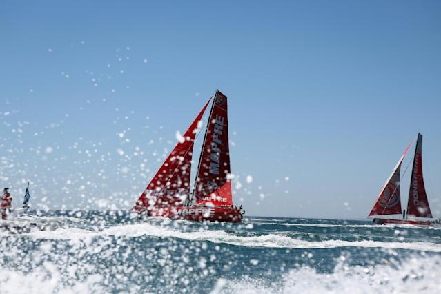 Sailing - Volvo Ocean Race - Third Leg - Cape Town, South Africa - December 10, 2017. Team Mapfre sails. REUTERS/Sumaya Hisham