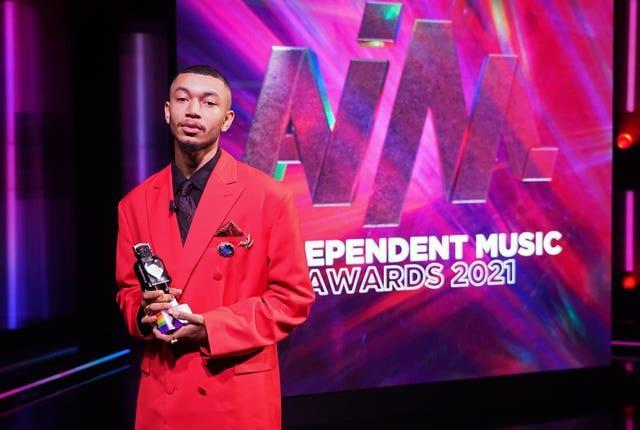 Wesley Joseph with the best independent video award