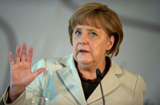 """Mediocrity must not become the standard,"" Merkel told members of Germany's federation of family-run businesses"