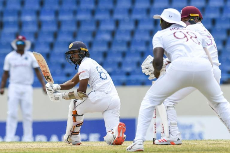 Sri Lanka batsman Oshada Fernando made a battling 91 on the third day of the first Test against West Indies