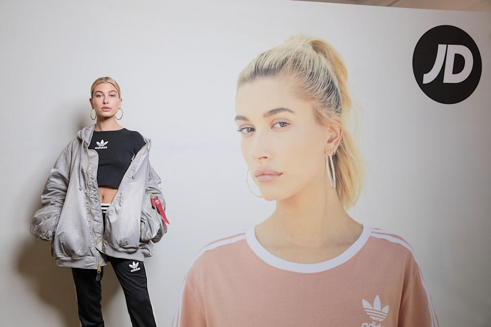 Hailey Baldwin partners with adidas and JD Sports to create Streets of EQT, a fashion show celebrating street style at The Old Truman Brewery on September 15, 2017 in London, England. Photo: Tristan Fewings/Getty Images for adidas