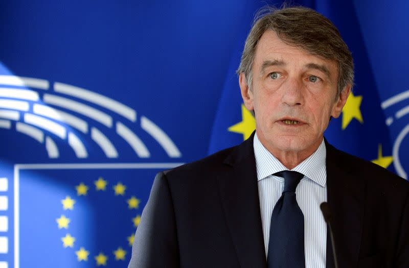 EU parliament chief asks leaders for more money to unlock EU recovery package