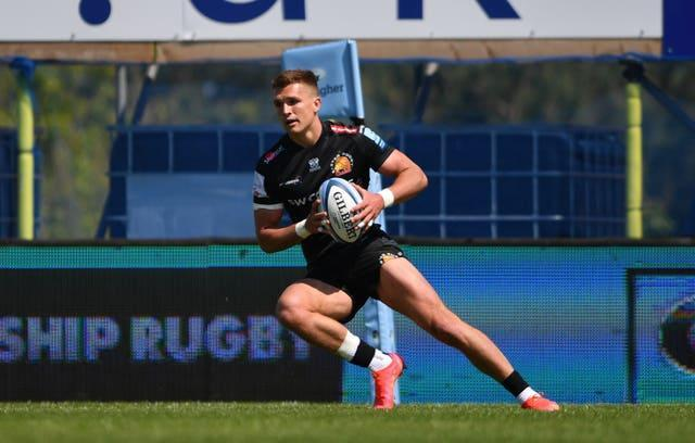 Henry Slade scored twice as Gallagher Premiership champions Exeter registered 12 tries in a 74-3 demolition of Newcastle (Simon Galloway/PA).