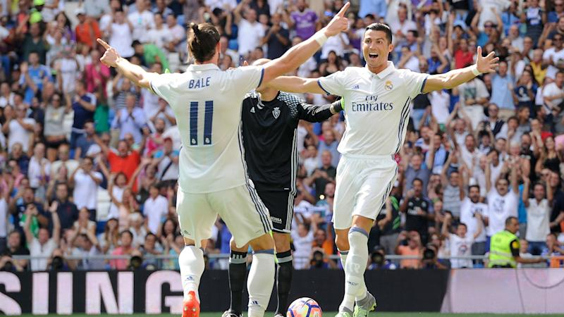 Bale and Ronaldo miss Espanyol trip as Real target record win