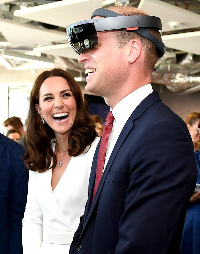 <p>The Duke and Duchess of Cambridge checked out the products at a reception for young entrepreneurs during a visit to Warsaw, Poland. Looks like Wills is a fan! (Photo: Zak Hussein) </p>