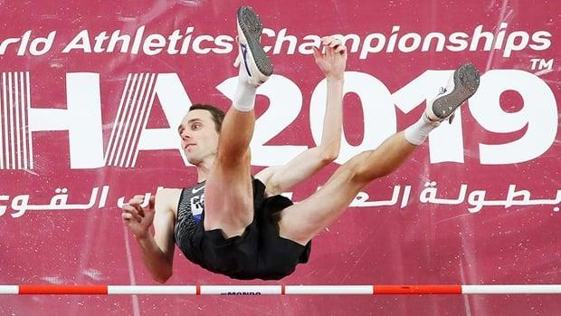Mike Mason of Nanoose Bay, B.C., will try to defend his Canadian high jump title on Sunday at the Olympic trials in Montreal. He jumped 2.30 metres on June 12 to win the men's event at the Harry Jerome Track Classic in Burnaby, B.C. (Richard Heathcote/Getty Images/File - image credit)