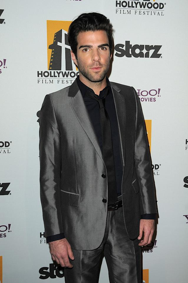 """<a href=""""http://movies.yahoo.com/movie/contributor/1808558768"""">Zachary Quinto</a> at the 13th Annual Hollywood Awards Gala held at the Beverly Hilton Hotel - 10/26/2009"""
