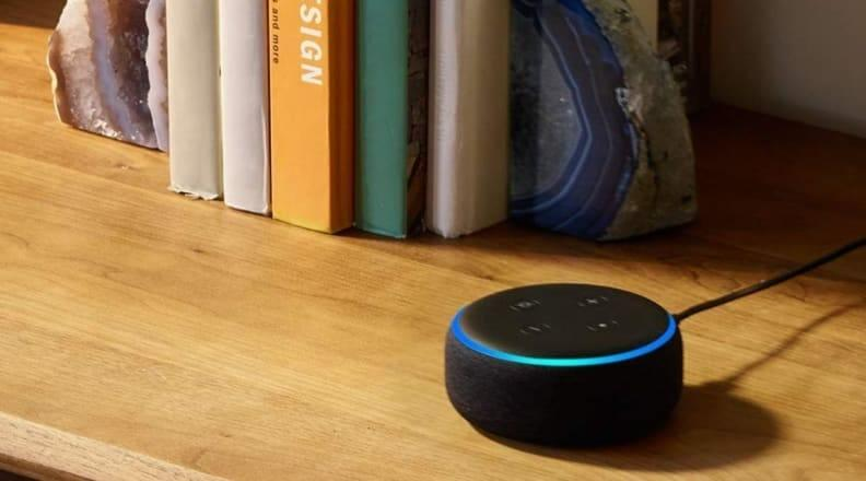 The Echo Dot is small, compact and will easily fit into your décor.