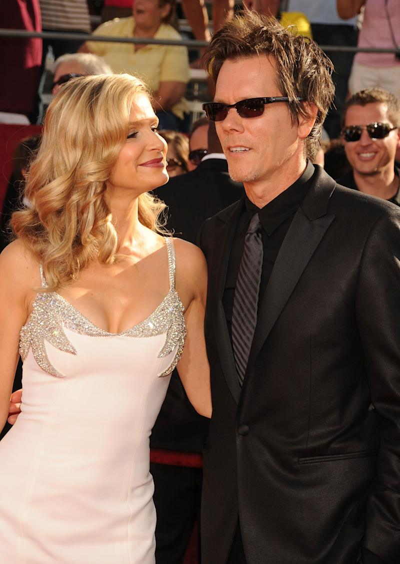 Sedgwick and Bacon at the Emmy Awards at the Nokia Theater in Los Angeles, California.