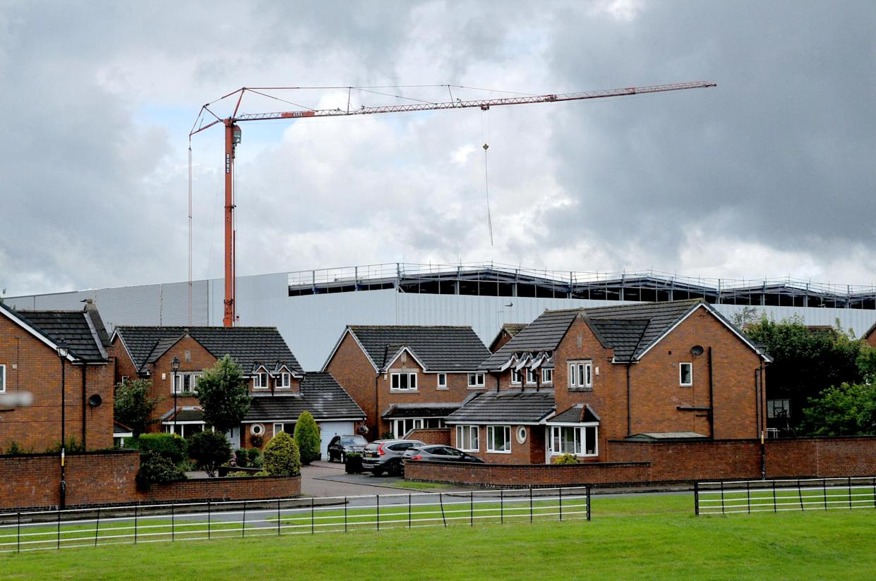Neighbours on Tourney Green fear the Omega South construction along Burtonwood Road will greatly affect their house prices. (SWNS)