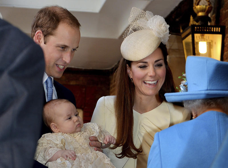 3-month-old Prince George is christened in London