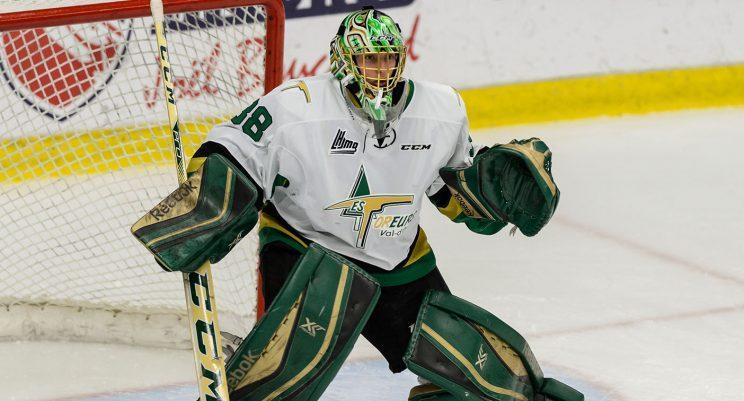 Val d'Or Foreurs' Etienne Montpetit is the first QMJHL goalie to score since 2015. (Minas Panagiotakis/Getty Images)