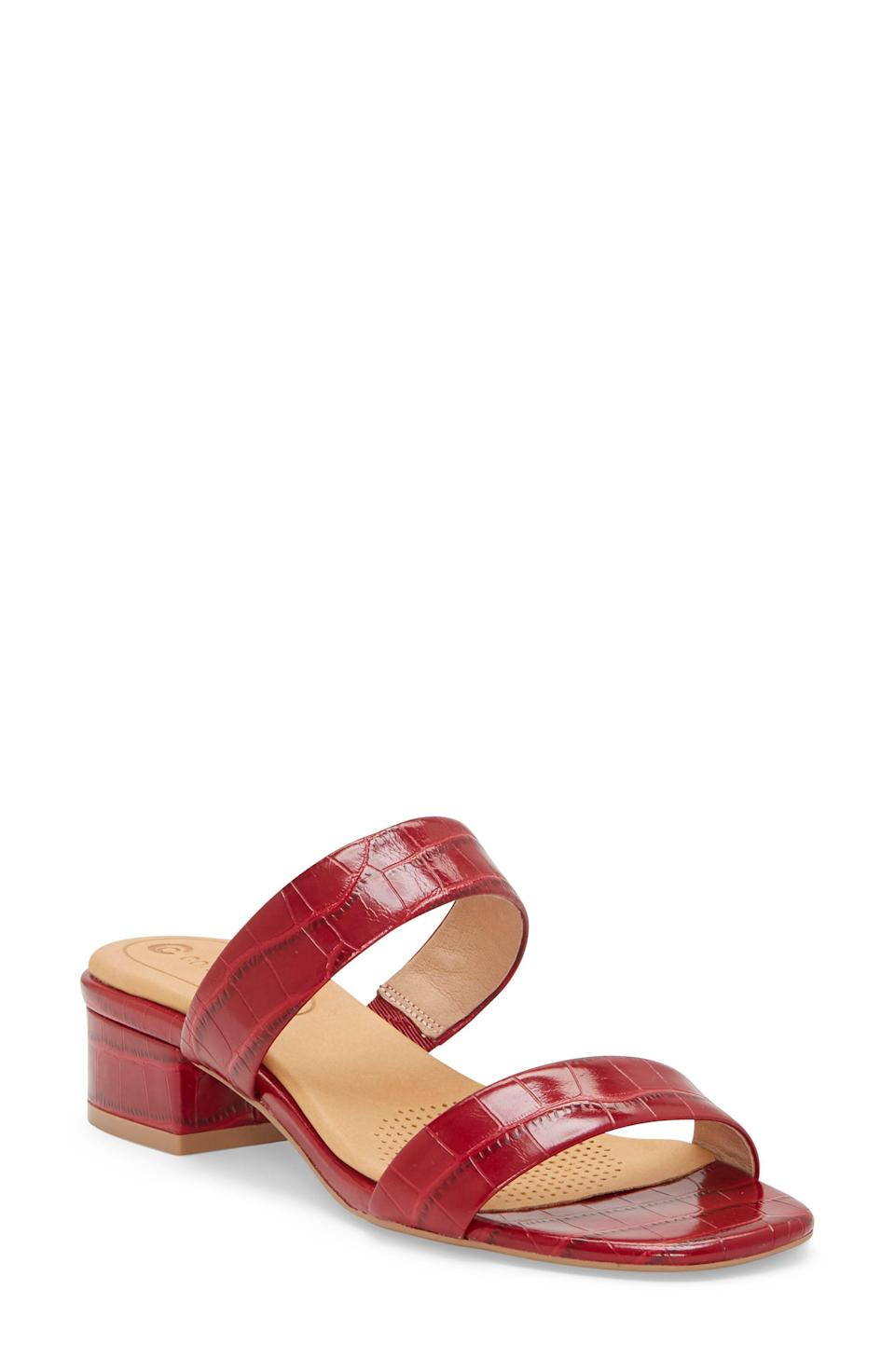 """<p><strong>CC Corso Como</strong></p><p>nordstrom.com</p><p><strong>$118.95</strong></p><p><a href=""""https://go.redirectingat.com?id=74968X1596630&url=https%3A%2F%2Fwww.nordstrom.com%2Fs%2Fcc-corso-como-faeya-slide-sandal-women%2F5584694&sref=https%3A%2F%2Fwww.oprahdaily.com%2Fstyle%2Fg25893553%2Fbest-sandals-for-women%2F"""" rel=""""nofollow noopener"""" target=""""_blank"""" data-ylk=""""slk:SHOP NOW"""" class=""""link rapid-noclick-resp"""">SHOP NOW</a></p><p>Strappy yet supportive, this dressy block heel style features a cushy perforated footbed for breathability.</p>"""