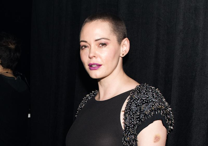 Rose McGowan, the woman who sparked the Twitter boycott.  (Noam Galai via Getty Images)