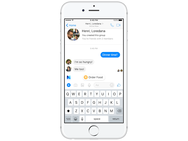 Chat Extensions lets multiple users in a group conversation chat to a company at the same time