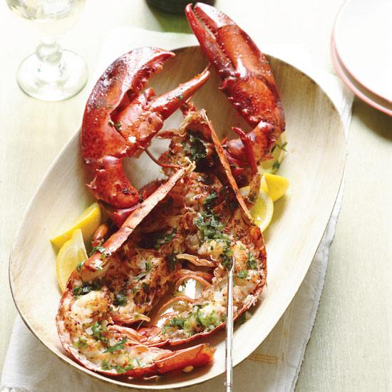 "<div class=""caption-credit""> Photo by: Dana Gallagher</div><div class=""caption-title"">Roasted Lobsters with Verjus and Tarragon</div><b><a href=""http://www.foodandwine.com/recipes/roasted-lobsters-with-verjus-and-tarragon"">Roasted Lobsters with Verjus and Tarragon</a></b> <br> Verjus, a cooking liquid pressed from unripe grapes, is a staple of classic French cooking; chefs love it today for its pleasant tang, which is much milder than vinegar. Verjus is used in two ways here: to help baste the lobster as it roasts and to brighten a jalapeño-and-tarragon-inflected vinaigrette served over the sweet meat."