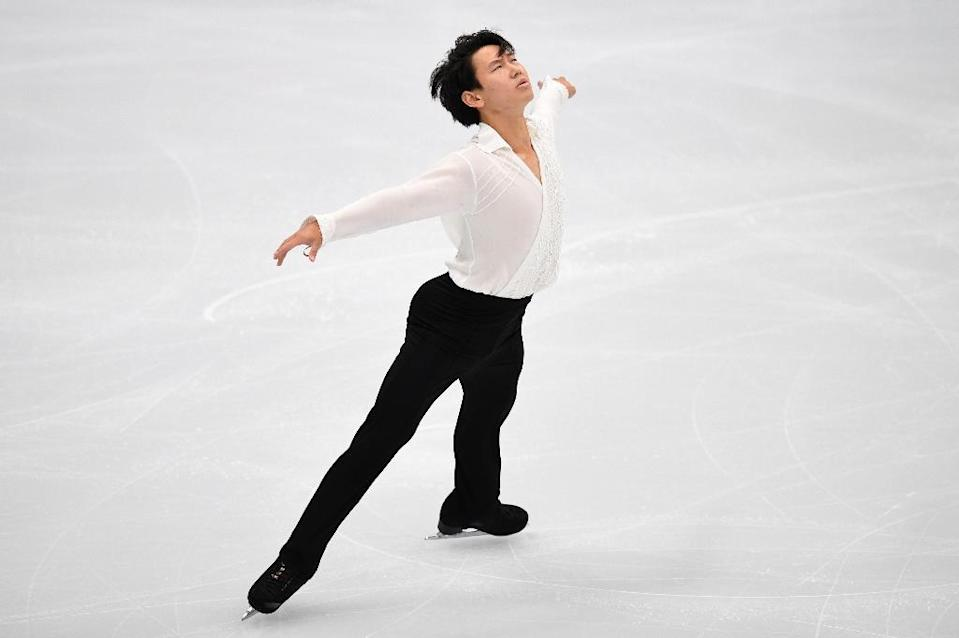 Kazakh figure skater Denis Ten, who won bronze at the 2014 Sochi Olympics, died in hospital after being stabbed in Almaty (AFP Photo/Yuri KADOBNOV)