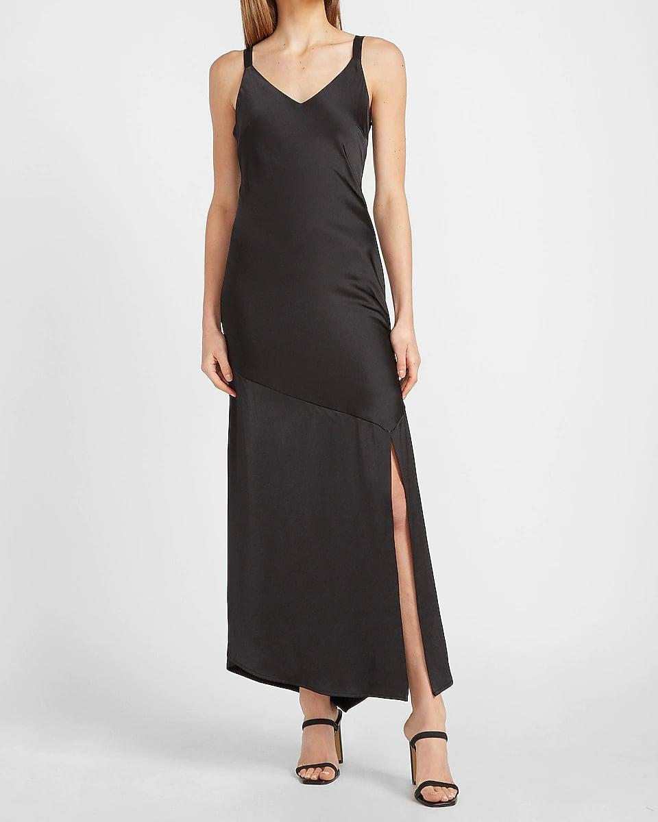 <p>Have a fancy event coming up? This <span>Express Satin V-neck Midi Slip Dress</span> ($40, originally $98) will make a chic addition to your evening wardrobe, and enhance your figure in the most elegant way.</p>