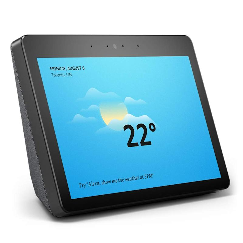 """Echo Show (2nd Gen) - Premium sound and a vibrant 10.1"""" HD screen - Charcoal"""