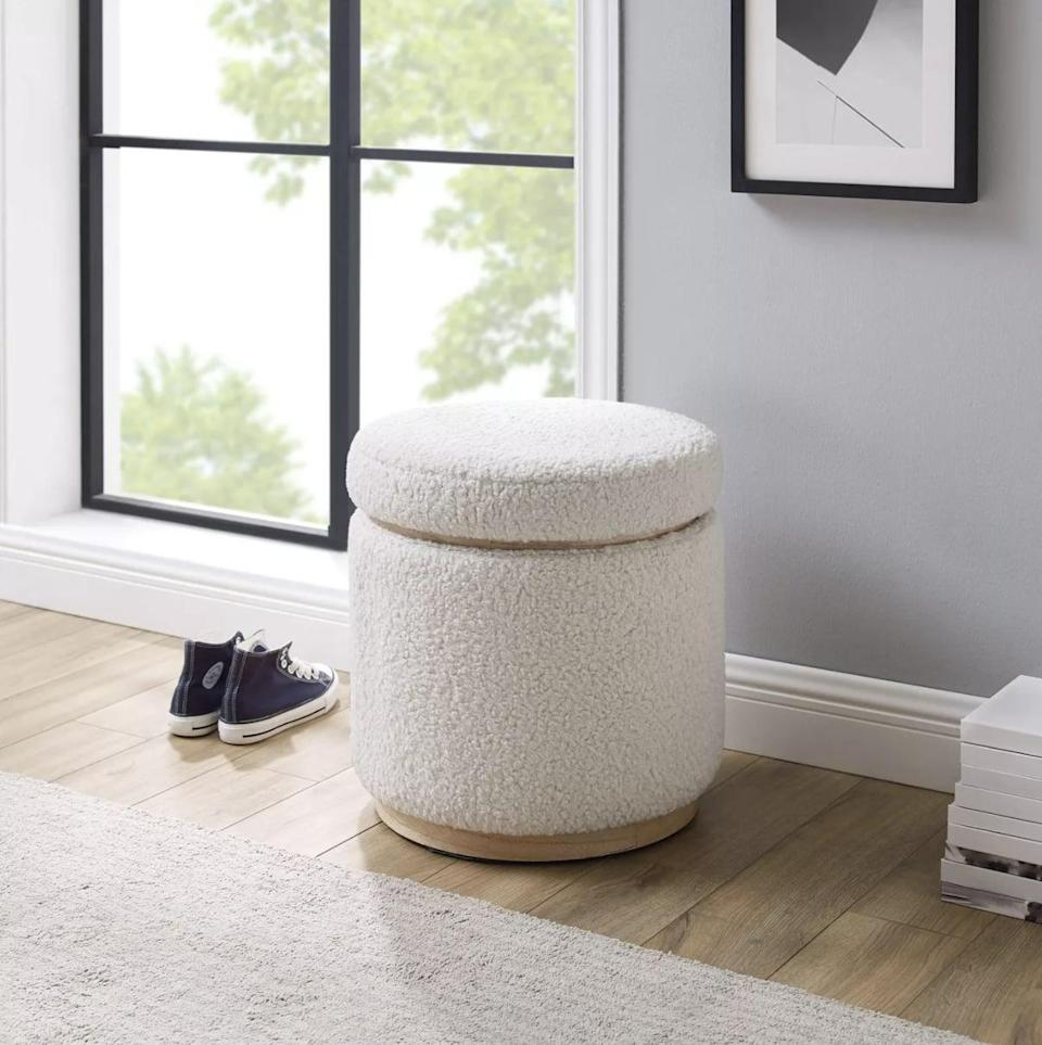 <p>This <span>Linon Blanche Storage Ottoman</span> ($150) is always good to have around the house. She can use it as a foot rest, extra seating, or just a decorative piece of furniture.</p>