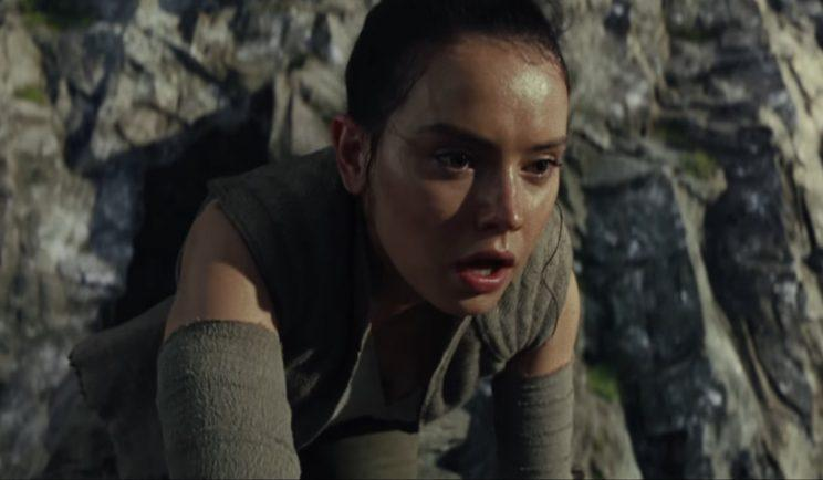 Rey arrives on Skywalker island - Credit: Lucasfilm