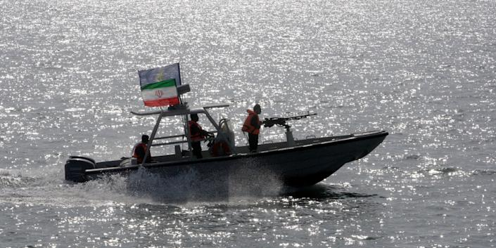 Iranian Revolutionary Guard speedboat