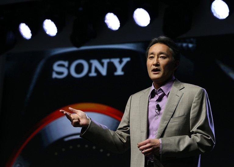Sony CEO Kazuo Hirai speaks at the International CES in Las Vegas on January 7, 2013