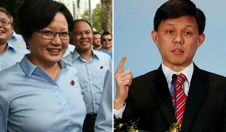 (Photos of Workers' Party chairman Sylvia Lim and Minister in the Prime Minister's Office Chan Chun Sing: AFP/Reuters)
