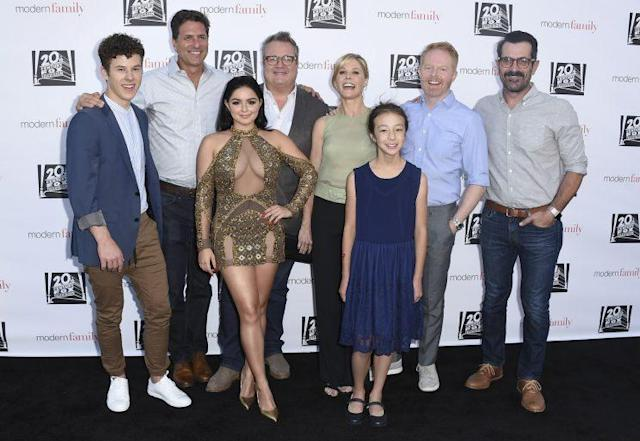 The cast of <em>Modern Family</em> at the YFC Event. (Photo: AP Images)