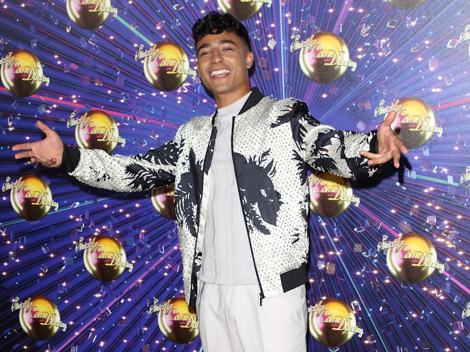 LONDON, UNITED KINGDOM - 2019/08/26: Karim Zeroual at the Strictly Come Dancing Launch at BBC Broadcasting House in London. (Photo by Keith Mayhew/SOPA Images/LightRocket via Getty Images)