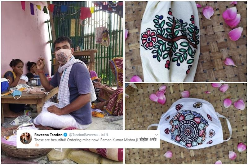 Bihar Madhubani Artist's Phone Hasn't Stopped Ringing after His Handpainted Face Masks Went Viral