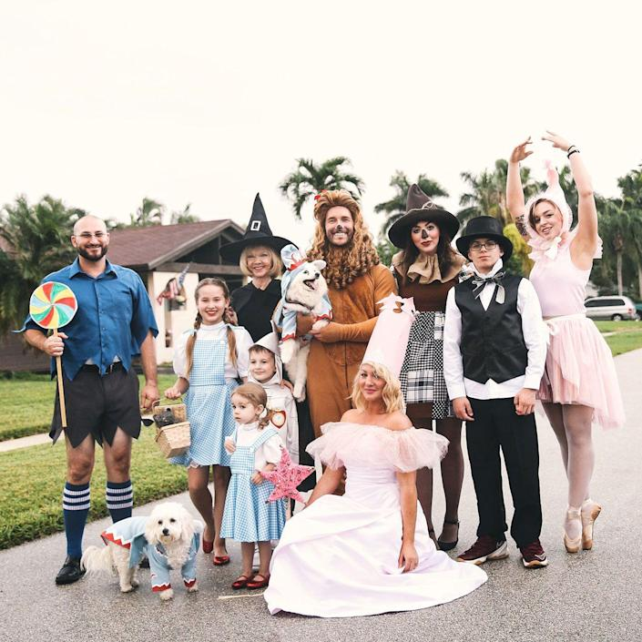 """<p>There's no place like home but you and your peeps are going to want to be out and about showing off this stellar group ensemble.</p><p><strong>Get the tutorial at <a href=""""http://keikolynn.com/2016/10/wizard-of-oz-group-costume/"""" rel=""""nofollow noopener"""" target=""""_blank"""" data-ylk=""""slk:Keiko Lynn"""" class=""""link rapid-noclick-resp"""">Keiko Lynn</a>.</strong></p><p><a class=""""link rapid-noclick-resp"""" href=""""https://www.amazon.com/Smiffys-Womens-Witch-Diamante-Buckle/dp/B00M2T7C1W?tag=syn-yahoo-20&ascsubtag=%5Bartid%7C10050.g.32906192%5Bsrc%7Cyahoo-us"""" rel=""""nofollow noopener"""" target=""""_blank"""" data-ylk=""""slk:SHOP WITCH HAT"""">SHOP WITCH HAT</a><strong><br></strong></p><p><strong>RELATED: <a href=""""https://www.countryliving.com/diy-crafts/g22105023/wizard-of-oz-diy-costumes/"""" rel=""""nofollow noopener"""" target=""""_blank"""" data-ylk=""""slk:32 DIY 'Wizard of Oz' Costumes for an Emerald City-Inspired Halloween"""" class=""""link rapid-noclick-resp"""">32 DIY 'Wizard of Oz' Costumes for an Emerald City-Inspired Halloween</a></strong></p>"""
