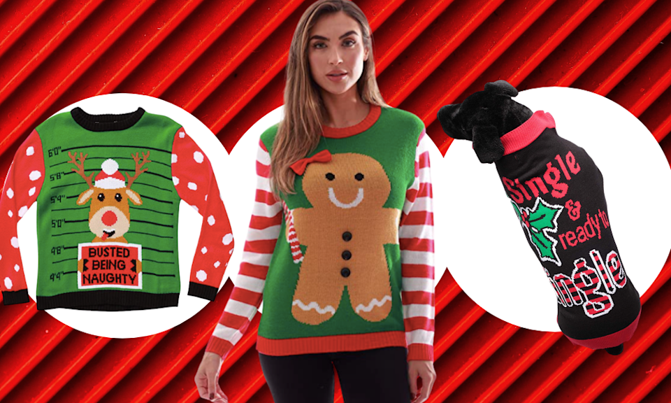 Save up to 30 percent off ugly Christmas sweaters. (Photo: Amazon)