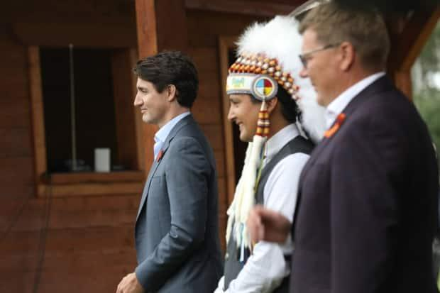 Prime Minister Justin Trudeau has signed an agreement to return child welfare responsibilities to the Cowessess First Nation. (Matt Howard/CBC - image credit)