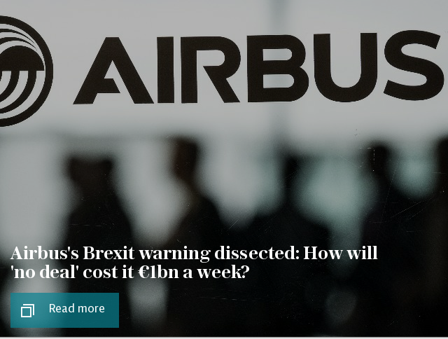 Airbus's Brexit warning dissected: How will 'no deal' cost it €1bn a week?