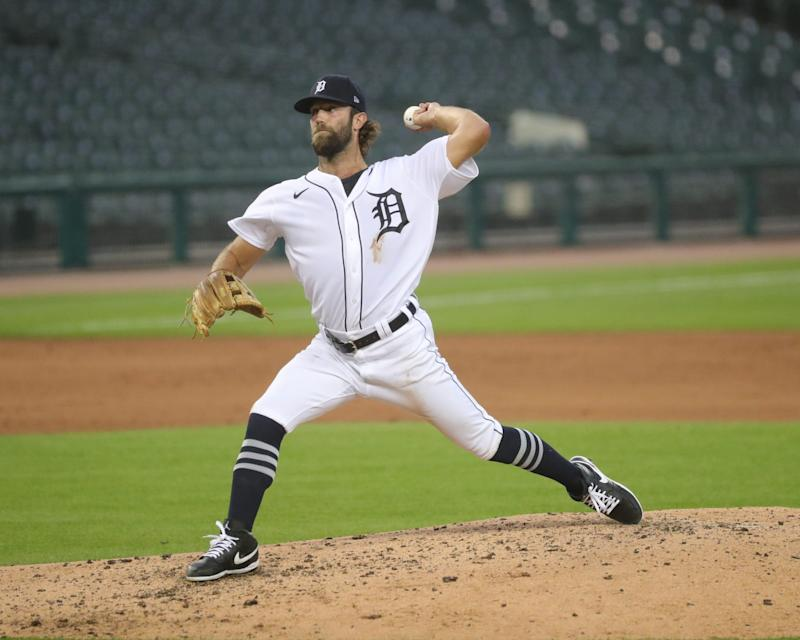 Detroit Tigers reliever Daniel Norris pitches against the Chicago White Sox during the fourth inning at Comerica Park, Monday, Aug. 10, 2020.