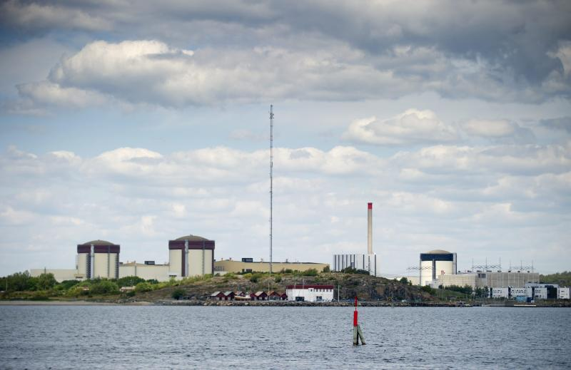 Sweden's Ringhals atomic power station near Varberg Sweden Thursday June 21, 2012 Swedish authorities have raised the security alert for the country's three nuclear power plants Thursday after explosives were found on a truck in the Ringhals power plant's industrial area near the high security enclosure around its four nuclear reactors. (AP Photo/Bjorn Larsson Rosvall) SWEDEN OUT