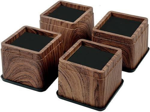 """BTSD-home 3"""" Wood Bed Risers"""