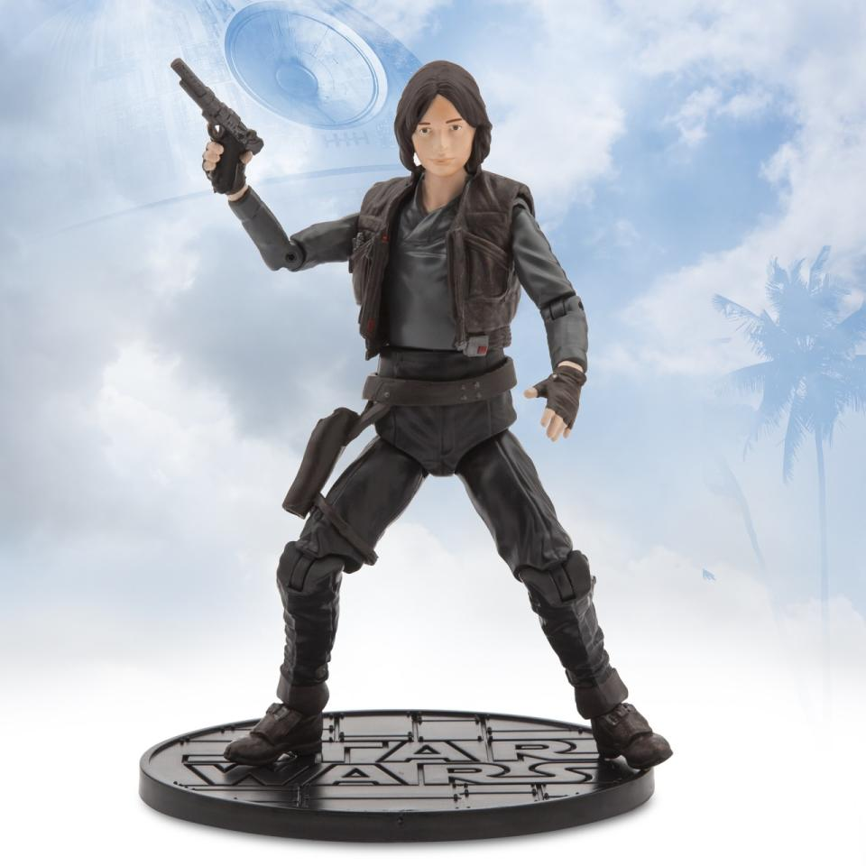 <p>Felicity Jones's action-ready hero gets an action-ready figure. This is one of several Jyn-related toys and role-play items due out on Sept. 30, perhaps making up for complaints of low-inventory of Rey paraphernalia last year. Available for preorder Sept. 2. <i>($26.95)</i></p>