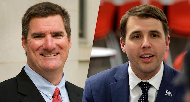 Among the candidates running in the New Hampshire primary for the U.S. House are Republican Andy Sanborn, left, and Democrat Chris Pappas. (Photos: Elise Amendola/AP)