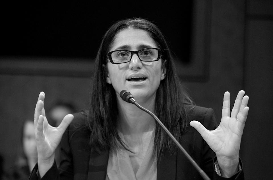 Dr. Mona Hanna-Attisha testifies about lead contamination of the Flint, Mich., water supply during a U.S. House hearing in 2016. Today she says the water quality has improved and the city is replacing its lead pipes.