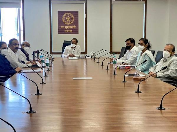 Visual of the meeting chaired by Maharashtra Deputy Chief Minister Ajit Pawar