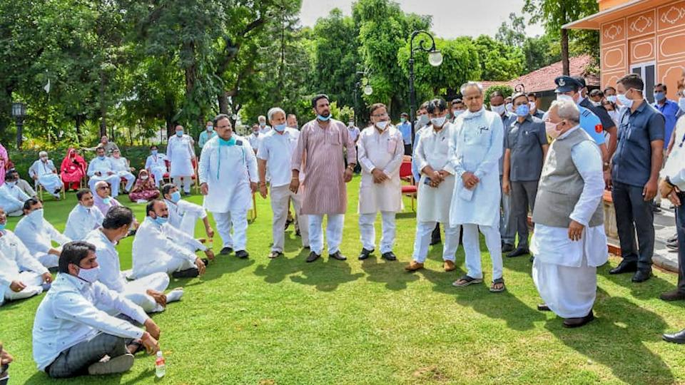Rajasthan CM Ashok Gehlot met the Governor at Raj Bhawan with his MLAs on Friday, 24 July.