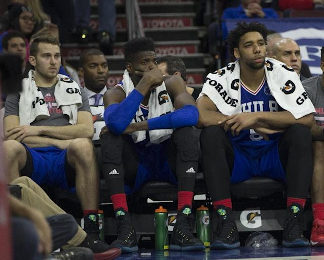 The 76ers are now 0-16 for the season, and combined with 10 straight losses last year now have a share of the record for the worst string of defeats in history (AFP Photo/Mitchell Leff)