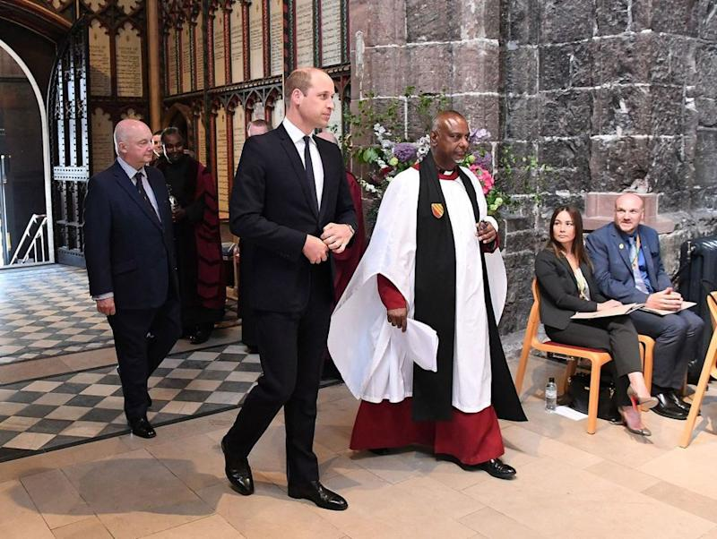 Prince William attends The Manchester Arena National Service of Commemoration at Manchester Cathedral on May 22.