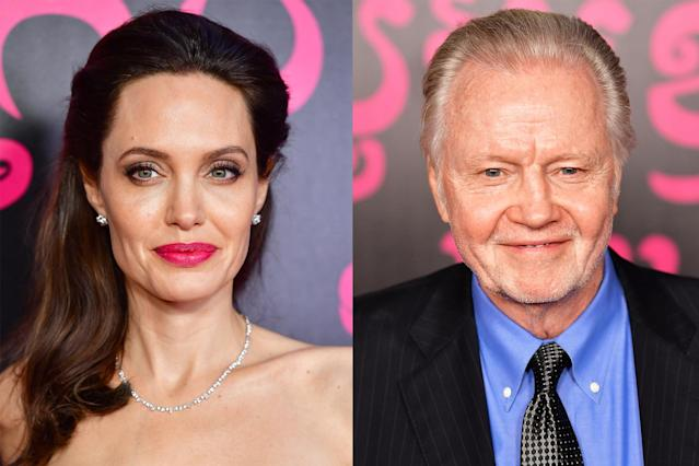 Angelina Jolie, left, and Jon Voight arrive to the New York premiere of <i>First They Killed My Father</i>, on Sept. 14, 2017, in New York City. (Photo: James Devaney/Getty Images)