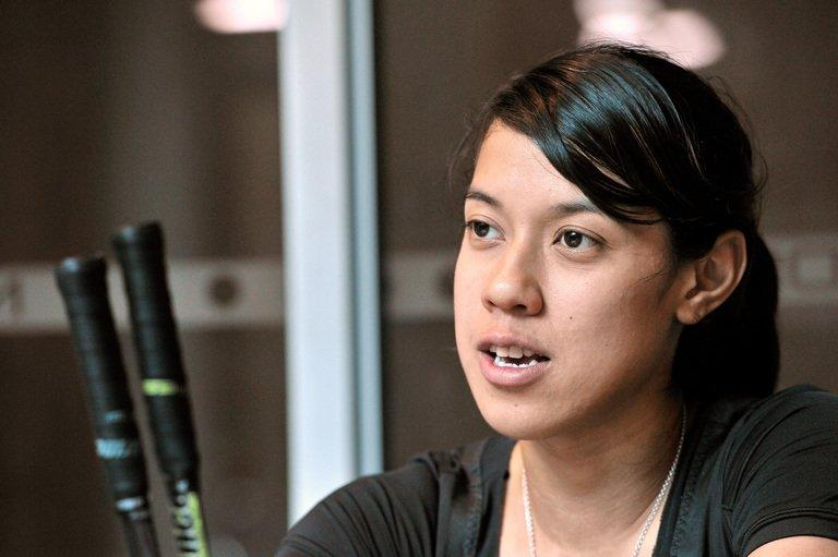 World squash champion Nicol David of Malaysia, pictured during an interview with AFP, on April 12, 2012