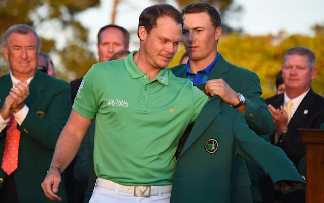 <span>Danny Willett is presented with his green jacket at the end of the 80th Masters tournament - but he's not a member </span> <span>Credit: Getty Images  </span>
